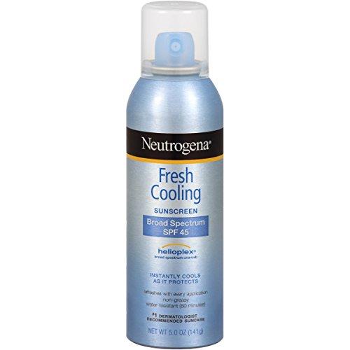 Neutrogena Fresh Cooling Body Mist Sunscreen SPF 45, 5 Ounce