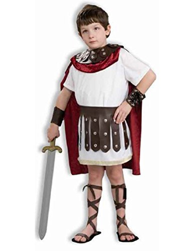 Kids Roman Gladiator Soldier Boys Halloween Costume Child Large (12-14) (Roman Empire Costume)