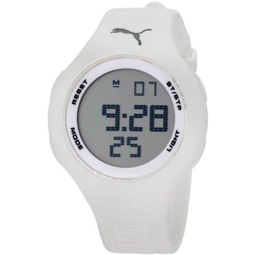 Puma A.PU910801010 - Reloj de mujer de cuarzo, correa de caucho color blanco: Amazon.es: Relojes