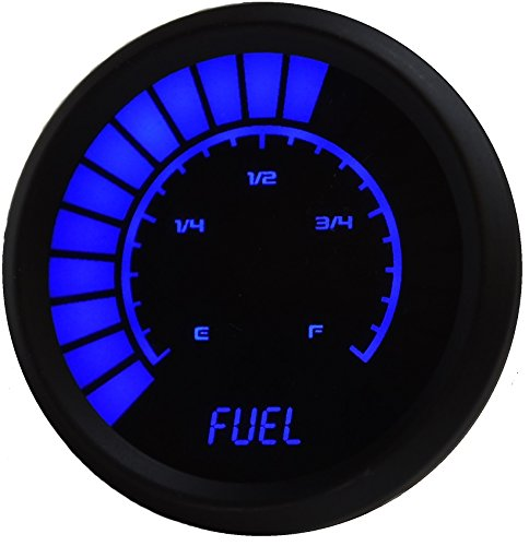 Intellitronix Universal Bargraph Digital Fuel Level Gauge (Blue) (Digital Fuel Gauge)