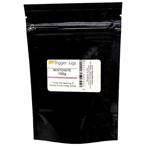 Bentonite - 100g Heavy Duty Resealable Pouch with Tamper Proof Seal - Fining Agent for Home Brew Beers & Wines Bigger Jugs