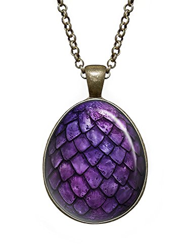 Purple Dragon Egg Necklace, Game of Thrones Pendant, - Dragon Egg Pendant Necklace