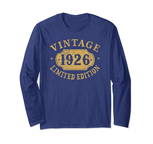 Unisex 92 years old 92nd B-day 1926 Limited Birthday Gift T-Shirt Medium Navy (Gifts For 92 Year Old Woman)