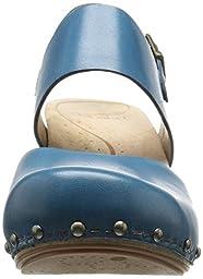 Dansko Women\'s Thea Heeled Sandal, Marine Full Grain, 38 EU/7.5-8 M US