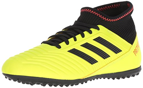 adidas Unisex Predator Tango 18.3 Turf Soccer Shoe, Yellow/Black/Solar red, 6 M US Big Kid
