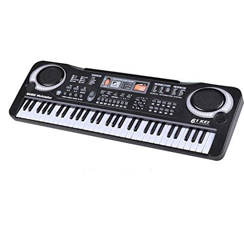 DUWEN Keyboard Child Multi-function Teaching Electronic Piano Piano With Microphone Simulation 61 Key by DUWEN