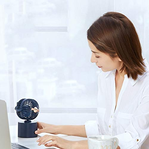 Creative Aircraft Shaking Head Fan Office Desktop USB Charging Mini Fan Durable (Color : Simple White)