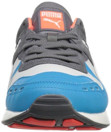 Puma Rs100 Ll Sneaker Stringata Moda Bianca / Oceano Hawaiano / Pisello Fluro