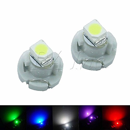 PA 10pcs T4.2 Car Dash Board Cluster Gauges Lights Bulbs 5 colors Set 12v(each color 2 pieces)