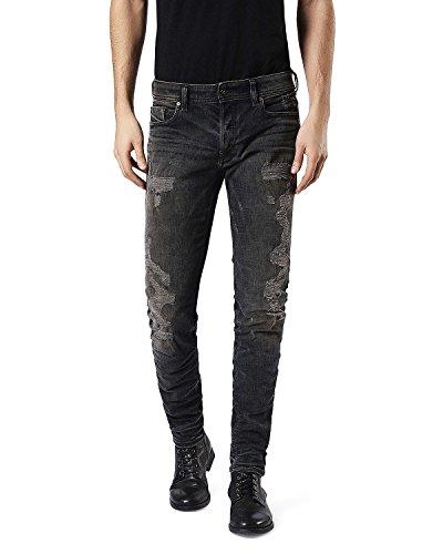 Diesel Distressed Jeans (Diesel Men's Sleenker 084DL Skinny Distressed Jeans (Denim) - 28x32)