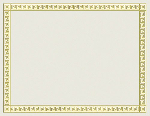Great Papers! Channel Border Foil Certificate, 12 Count, 8.5