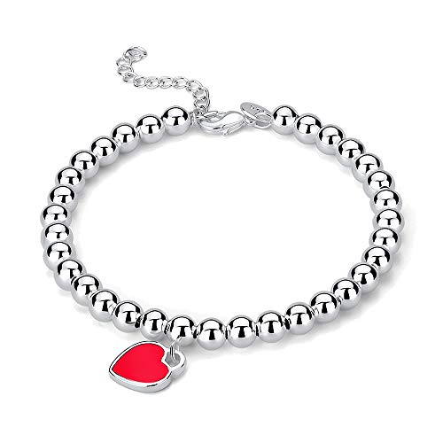 758270b22c025 Mini Heart Tag Silver Charm Bead Bracelet Jewelry for for sale Delivered  anywhere in USA