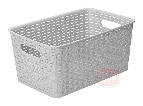 Baskets Amp Boxes Ybm Home Plastic Rattan Storage Box