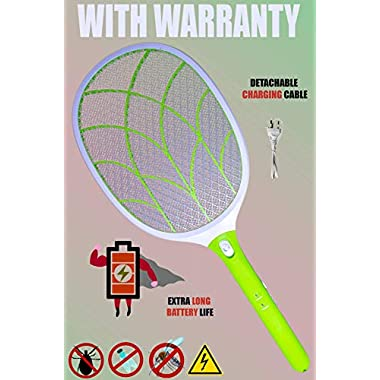 Weird Wolf (Formerly Viola) Heavy Duty Mosquito Bug Zapper Killer Racquet Bat with Powerful Battery and 6 Month Warranty 6