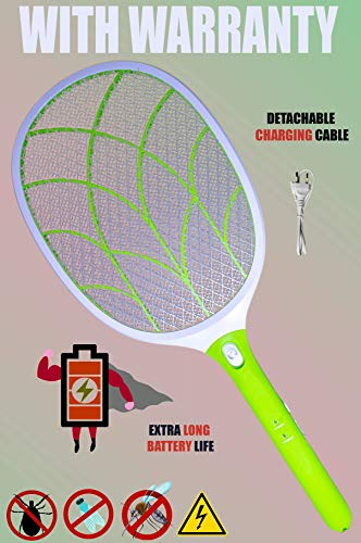 Weird Wolf (Formerly Viola) Heavy Duty Mosquito Bug Zapper Killer Racquet Bat with Powerful Battery and 6 Month Warranty 1