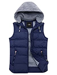 ZSHOW Women's Winter Padded Vest Removable Hooded Outwear Jacket