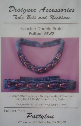 Tube Belt and Necklace Beaded Double Braid Pattern #Ew2 Designer Accessories