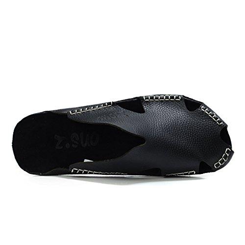 vera in chiusa Sicuro punta spiaggia da liberamente Nero per pelle l'uomo Colore Morbide scarpe antiscivolo con le Bianca pescatore viaggio Progettato Pantofola da Respira da Chiuso dimen scarpe ZJM BwYggq