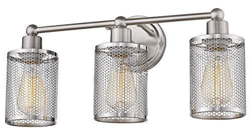 Verona 3-Light Vanity Light in Brushed Nickel