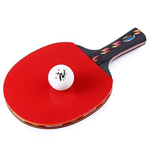 Qukueoy Ping Pong Paddle Set, Pro Premium Table Tennis Racket Set, Table Tennis Racket and Ball Set with Nylon Carrying Bag,Professional/Recreational Game Racquet, Perfect Set On The Go by Qukueoy