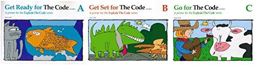 Explode The Code - 3 Books - A, Get Ready, B, Get Set & C, Go For The Code