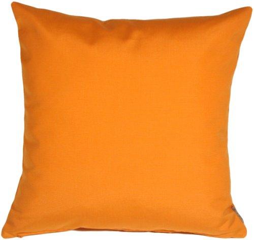 Pillow Decor - Sunbrella Tangerine Orange 20x20 Outdoor Pillow by Pillow Decor