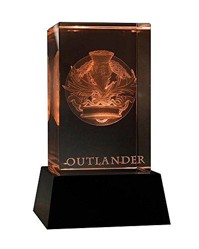 - Outlander 3D Crystal Crown & Thistle with Illuminated Base