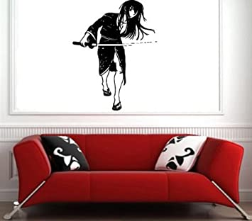 Amazon.com: Vinyl Decal Mural Sticker Anime Girl Ninja ...