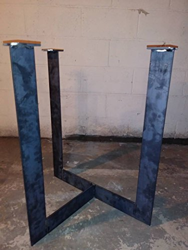Metal Table Legs,Office Table Legs,Furniture Table Legs,Custom Sizes,Industrial Finish,Handmade In U.S.