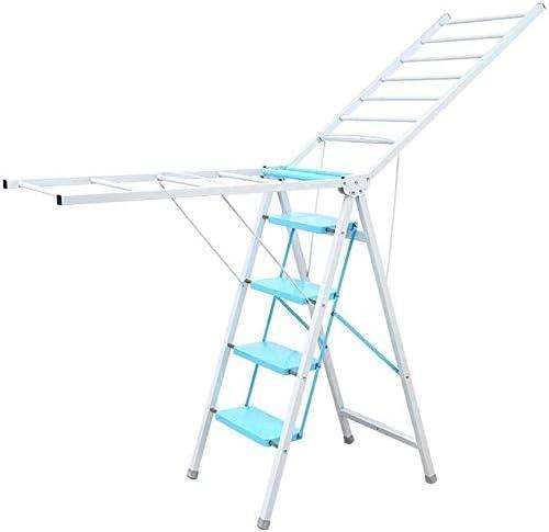 Taburete Escalera Doblar Paso Taburete con Tendedero, Escalera Oficina for Adultos 330lbs la Capacidad, Cocina Antideslizantes Ancho de Pedales Pasos (Color : Blue, Size : 5 Steps): Amazon.es: Hogar