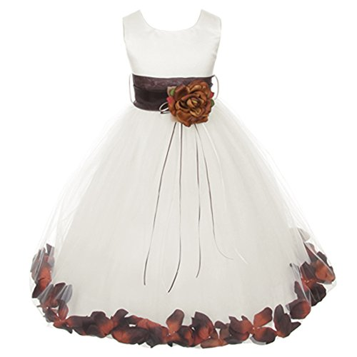 champagne and chocolate wedding dresses - 9