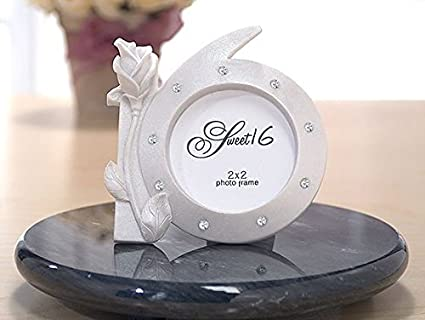 Amazon.com - Pearl White Sweet Sixteen Picture Frames with ...