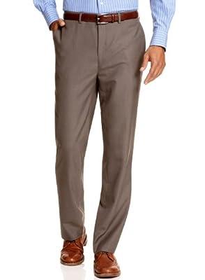 Calvin Klein Men's Slim Fit Flat Front Dress Pants 32W x 32L Brown
