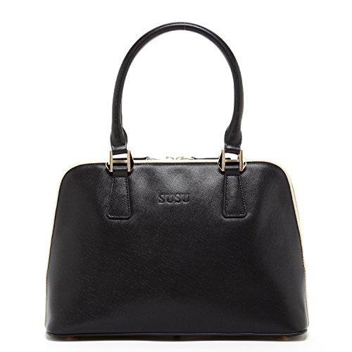 For Leather Melissa Black Saffiano Bags Designer SUSU The Handbags Women Shape Dome qAXTwngWO5