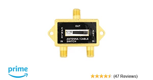 Amazon.com: Cable N Wireless Gold Plated Coaxial A/B Switch for Splite TV Antenna HDTV Cable 2 Way Digital Optical Coax Splitter (US Seller): Electronics