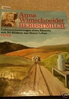 Herbstmilch Roman Amazon De Anna Wimschneider Bucher