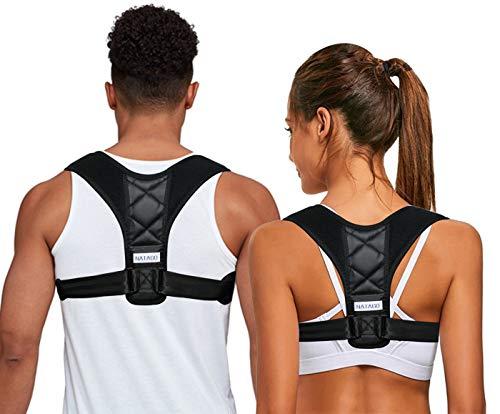 NATAGO Posture Corrector BackNATAGO Posture Corrector, Back Braces Clavicle Support Thoracic Kyphosis Breathable & Adjustable Shoulder Brace for Posture Rectifying (10black)