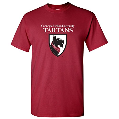 Plaid Logo Shirt - AS02 - Carnegie Mellon University Tartans Primary Logo T-Shirt - X-Large - Cardinal