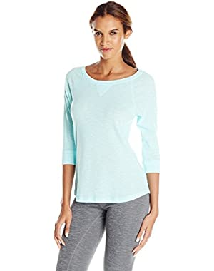 Performance Women's Tic Tac Toe 3/4 Sleeve Raglan Shirttail Pullover