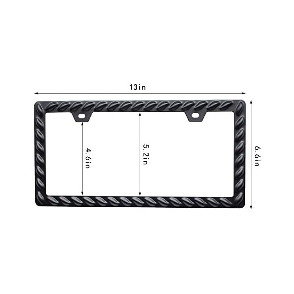 Creathome-3D-License-Plate-Frame-Extra-Heavy-Powder-Coating