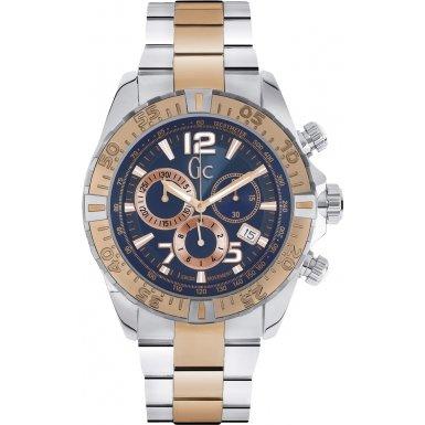 Guess Collection Y02002G7 45mm Multicolor Steel Bracelet & Case Mineral Men's Watch
