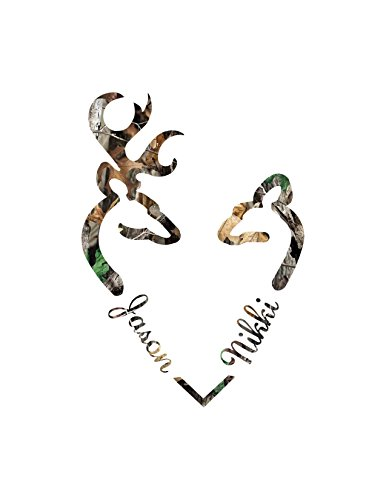 Deer Heart Buck Doe Decal Rt5x7