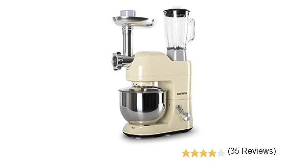Klarstein Lucia Morena 1200W 5L Crema de color - Robot de cocina ...