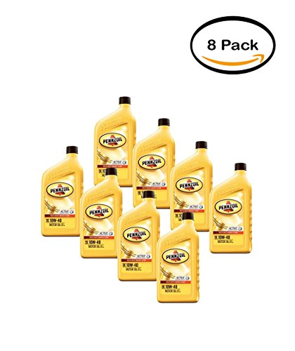 PACK OF 8 - Pennzoil 10W-40 Motor Oil, 1 qt.