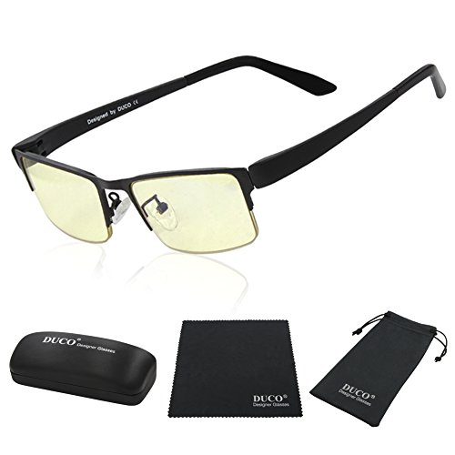 DUCO Optiks Computer Gaming Glasses Anti blue light 100% UV