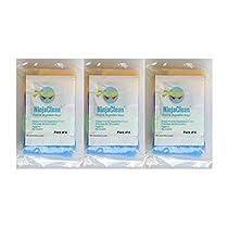 NinjaClean Plastic Reusable 12 Large Fridge Bags with Zip (