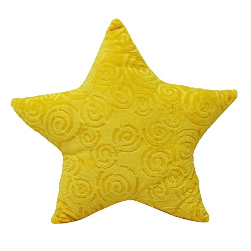 Star Minky Plush Throw Yellow ()