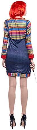 Partilandia Disfraz Muñeca Asesina para Mujer (L): Amazon.es ...