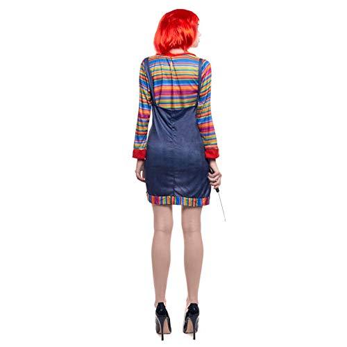Partilandia Disfraz Muñeca Asesina para Mujer (M): Amazon.es: Juguetes y juegos