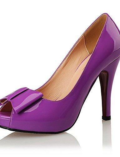 Noche us6 Boda eu42 Tacones Punta Azul Tacones Cuero Patentado cn43 white 5 Negro purple purple eu Mujer us10 Plataforma Estilos Fiesta Stiletto 5 us10 Vestido Tacón 5 Abierta cn36 uk4 eu36 GGX uk8 y q1OzAO